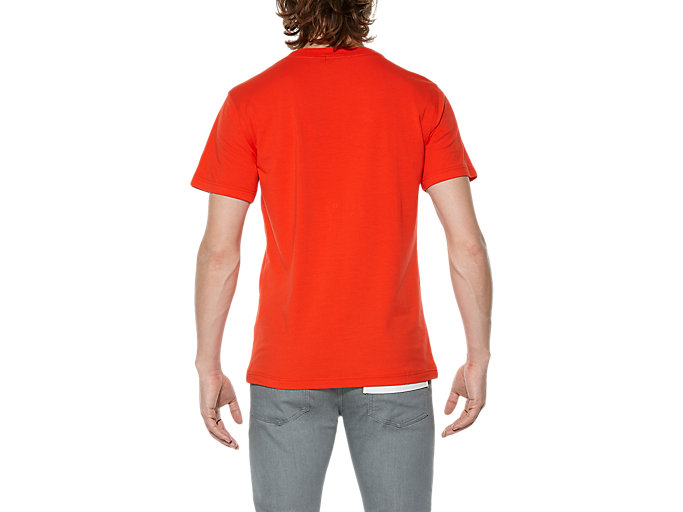 Back view of T-SHIRT, RED