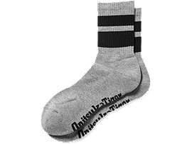 SHORT SOCKS, HEATHER GRAY/BLACK