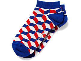 ANKLE SOCKS, Red/Blue