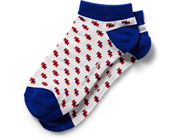 ANKLE SOCKS, WHITE/BLUE