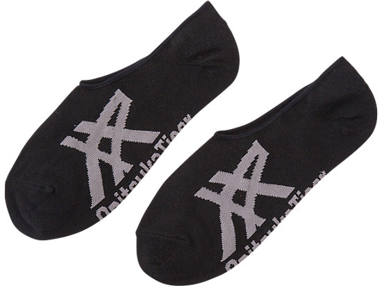 INVISIBLE SOCKS, BLACK/HEATHER GRAY