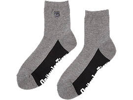 SHORT SOCKS, HEATHER GRAY