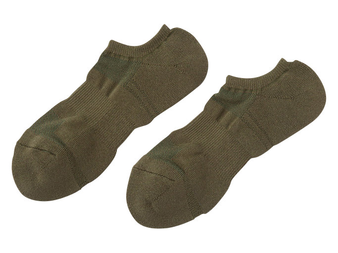Front Top view of INVISIBLE SOCKS, KHAKI
