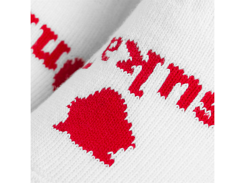 Ankle Socks White/Red 5 Z