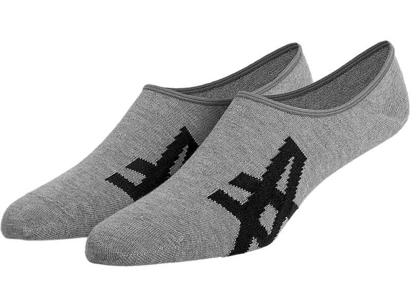 INVISIBLE SOCKS HEATHER GRAY/ BLACK 1 FT