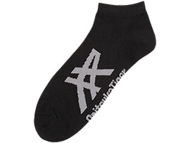 ANKLE SOCKS, BLACK/HEATHER GREY