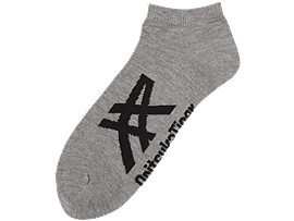 ANKLE SOCKS, HEATHER GREY/BLACK