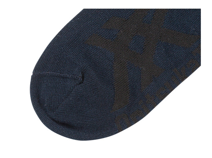 Back view of INVISIBLE SOCKS, NAVY/BLACK