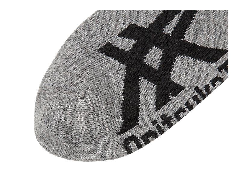 Invisible Socks Heather Gray/Black 5 BK