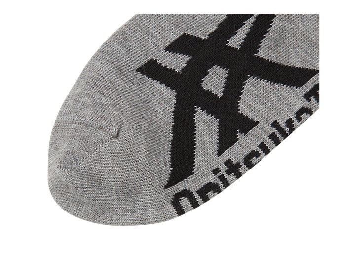 Back view of INVISIBLE SOCKS, HEATHER GREY/BLACK