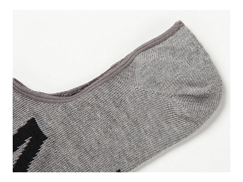 Invisible Socks Heather Gray/Black 9 Z