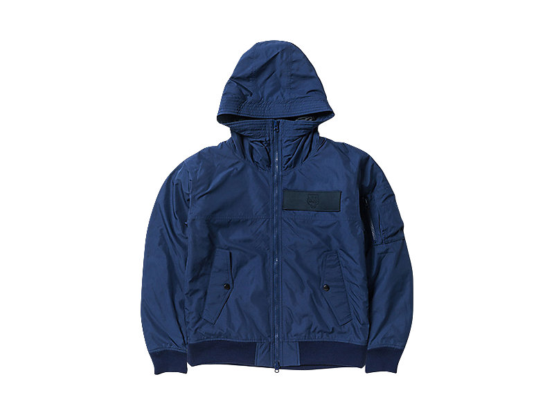 WOVEN HOODED JACKET NAVY 1 FT