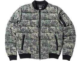 Front Top view of DOWN JACKET (GRAPHIC), Khaki Camo