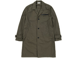 Front Top view of COAT, KHAKI