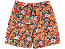 Front Top view of PRINTED SHORT PANT, ORANGE/WHITE
