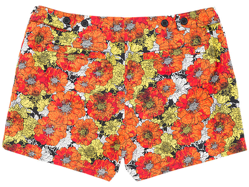 Flower Hot Pant Orange/White 5 BK