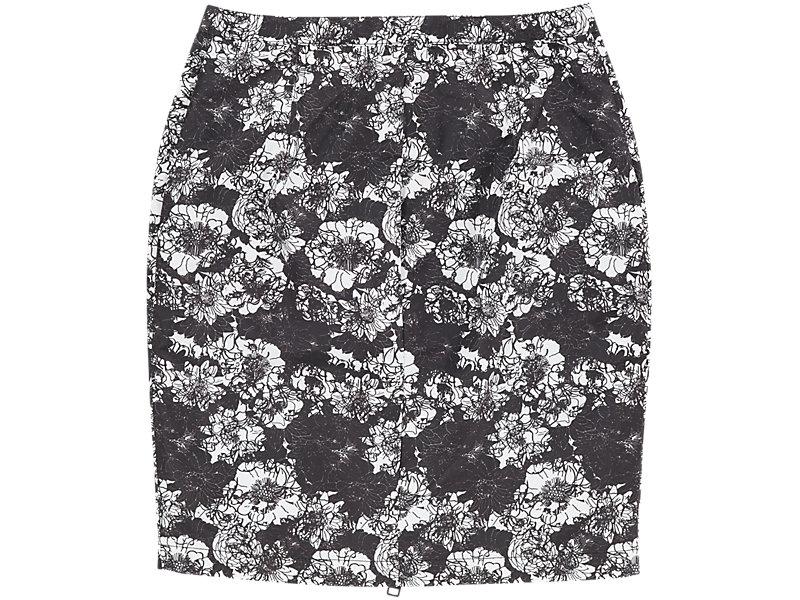Flower Pencil Skirt BLACK/WHITE 5 BK