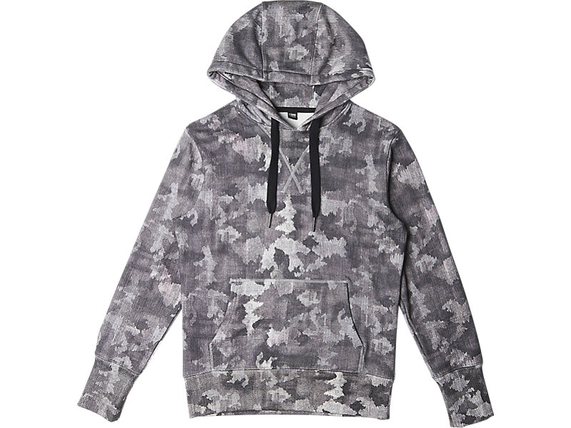 Graphic Sweat Hoodie Grey Camo 1