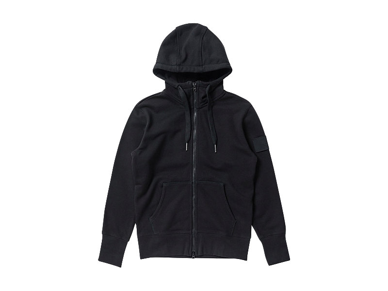 SWEAT ZIP HOODIE BLACK 1