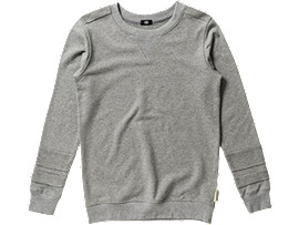 Front Top view of SWEAT SHIRT, Heather Gray