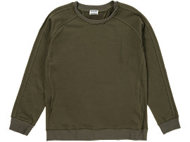 Front Top view of SWEAT TOP, Khaki