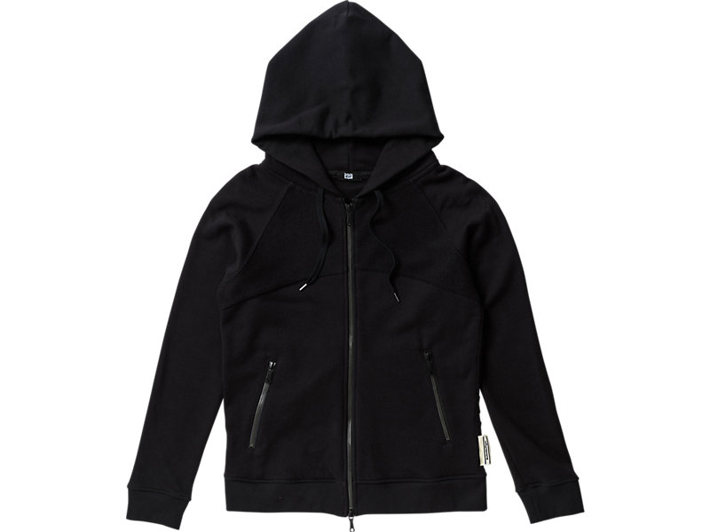 WOMENS  ZIP HOODIE BLACK 1 FT