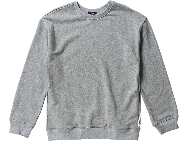 WOMENS WIDE  SWEAT TOP HEATHER GRAY 1 FT