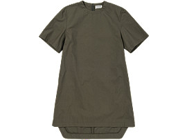Front Top view of WS DRESS, Khaki