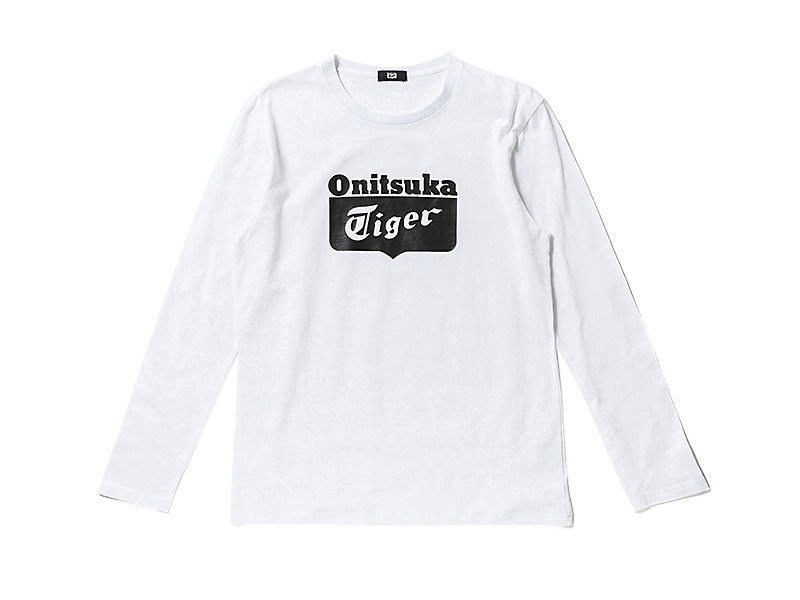 Logo Long Sleeve T-Shirt White/Black 1