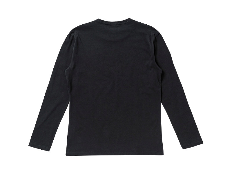 T-SHIRT LS À LOGO BLACK/WHITE 5 BK