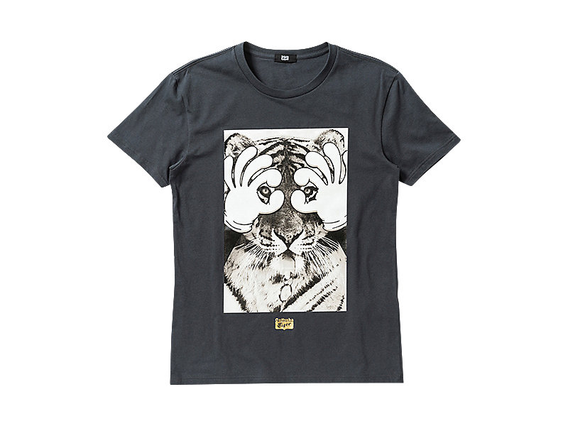 GRAPHIC T-SHIRT CHARCOAL/A 1 FT