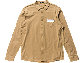 Front Top view of JERSEY SHIRT, Beige