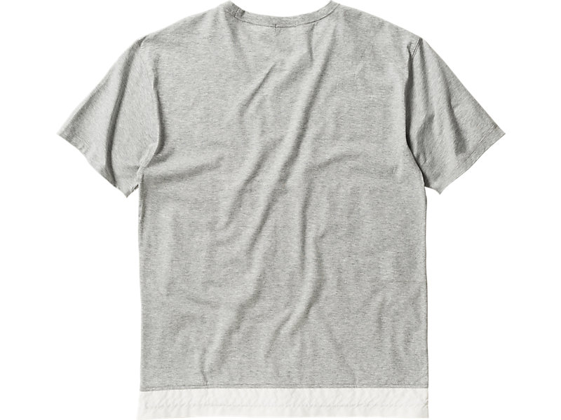T-SHIRT HEATHER GRAY/WHITE 5 BK