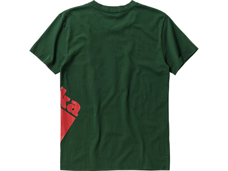 LOGO T-SHIRT GREEN/RED 5 BK