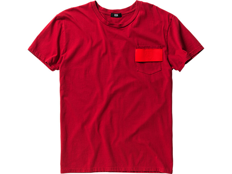 T-SHIRT WITH POCKET RED 1 FT