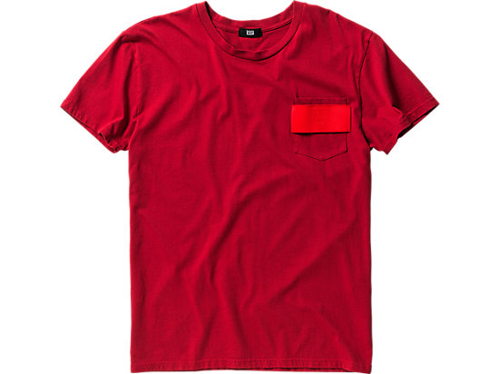 T-SHIRT WITH POCKET, Red