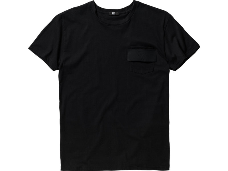 T-SHIRT WITH POCKET BLACK 1 FT