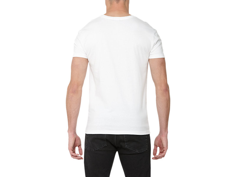 GRAPHIC T-SHIRT WHITE/PRINT A 5 BK
