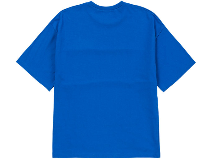 Back view of T-SHIRT, BLUE