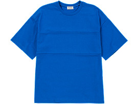 Front Top view of T-SHIRT, BLUE