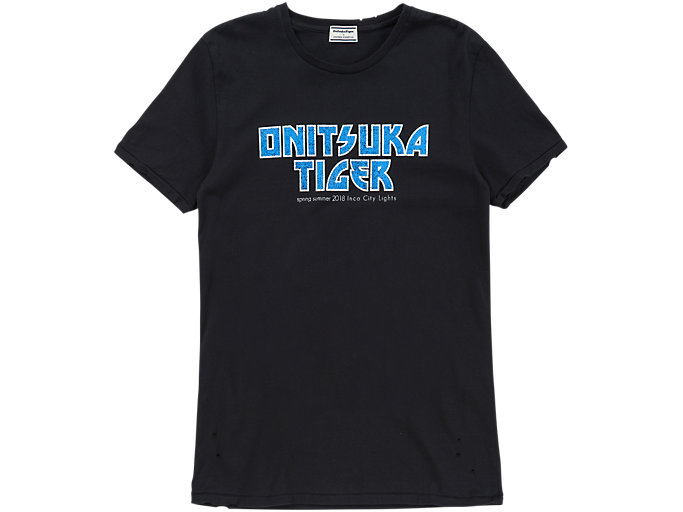 Front Top view of GRAPHIC T-SHIRT, BLACK/BLUE