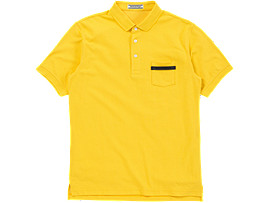 POLOSHIRT, YELLOW