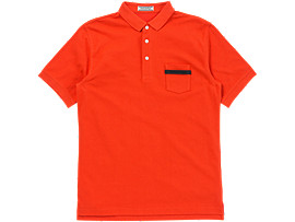 Front Top view of POLOSHIRT, ORANGE