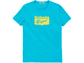 T-SHIRT MET LOGO, LIGHT BLUE/YELLOW