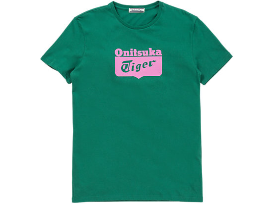 LOGO T-SHIRT, GREEN/PINK