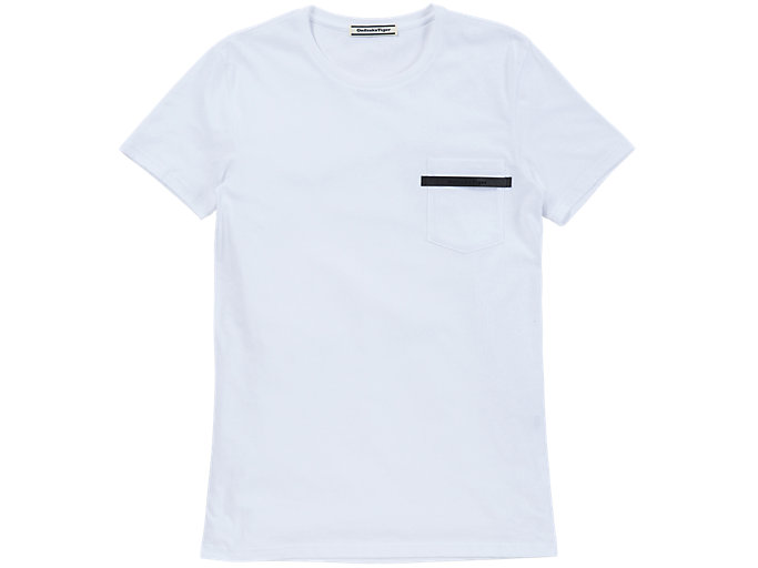 Front Top view of T-SHIRT, White