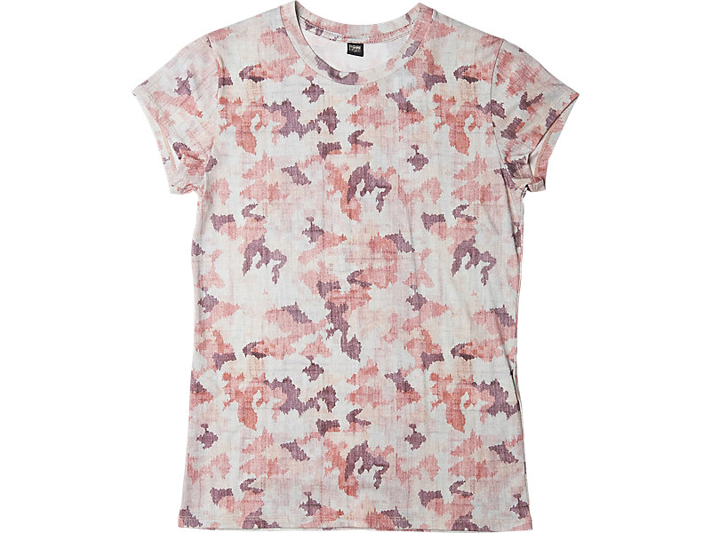 Womens Graphic T-Shirt Pink Camo 1 FT