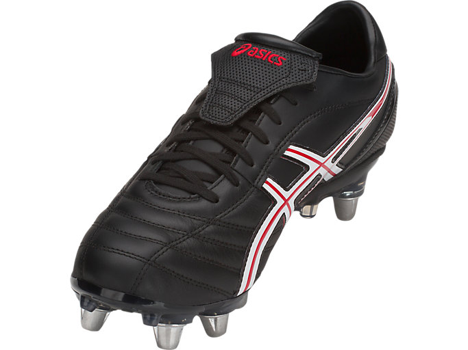 Front Left view of LETHAL WARNO™ ST2, BLACK/CLASSIC RED