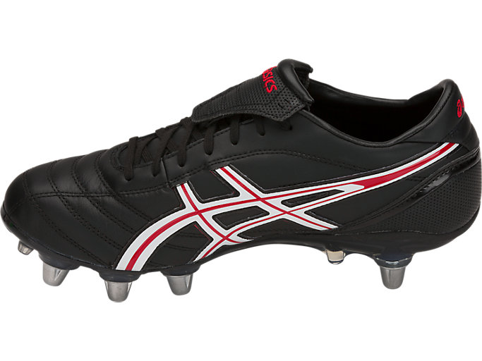 Left side view of LETHAL WARNO™ ST2, BLACK/CLASSIC RED