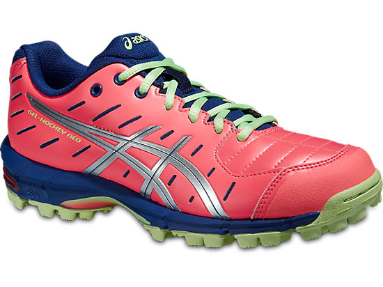 GEL-HOCKEY NEO 3 WOMEN FLASH CORAL/SILVER/PISTACHIO 3